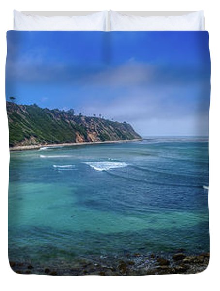 Marine Layer Over Bluff Cove Panorama Duvet Cover