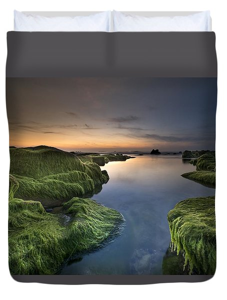 Marine Sunset Duvet Cover