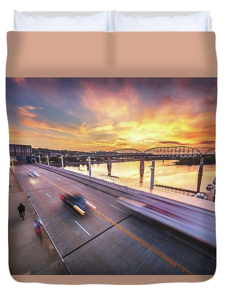 Market Street Commuters Duvet Cover
