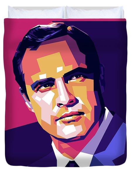 Marlon Brando Illustration Duvet Cover