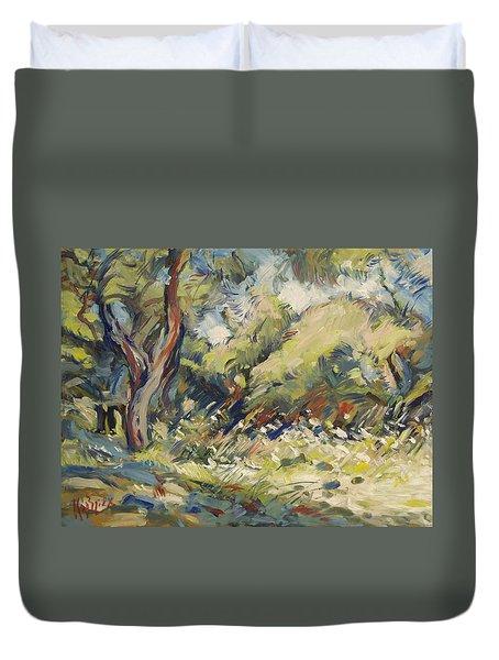 Marmari Olive Orchard Paxos Duvet Cover