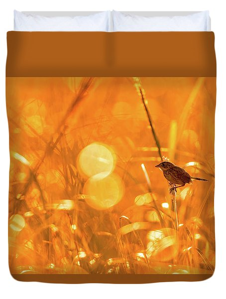 Marsh Sparrow Duvet Cover