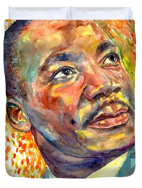 Martin Luther King Jr Portrait Duvet Cover