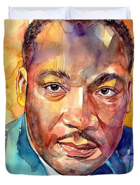 Martin Luther King Jr Watercolor Duvet Cover