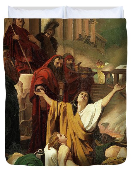 Martyrdom Of The Seven Maccabees Duvet Cover
