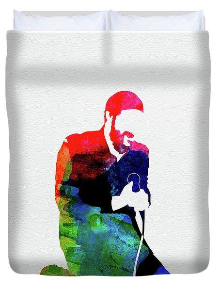 Marvin Gaye Watercolor Duvet Cover