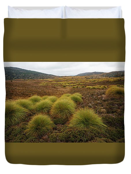 Duvet Cover featuring the photograph Maryland Track In Cradle Mountain. by Rob D