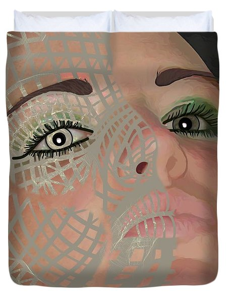 Mask Dark And Light Duvet Cover