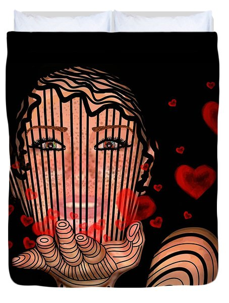 Mask Of Valentine Duvet Cover