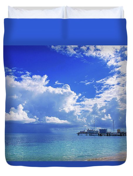 Massive Caribbean Clouds Duvet Cover