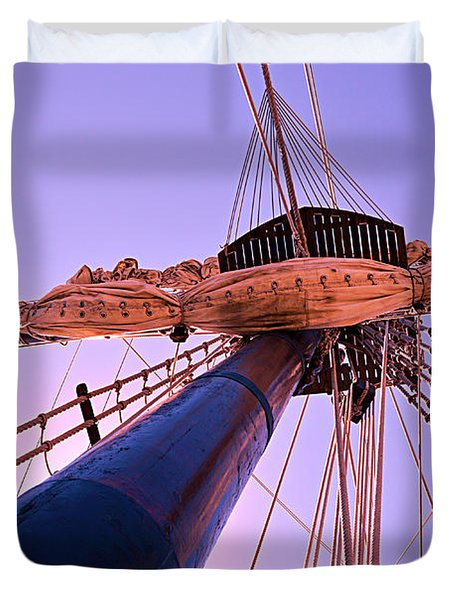 Mast And Sails Duvet Cover