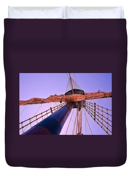 Mast And Sails Duvet Cover