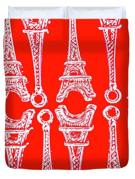Match Made In Paris Duvet Cover