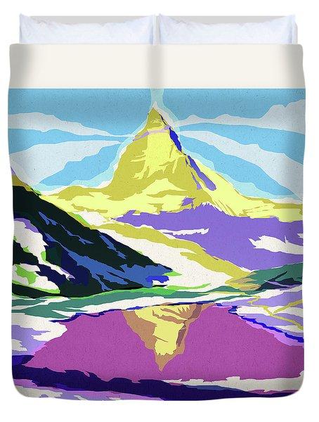 Matterhorn Snow Melt Duvet Cover