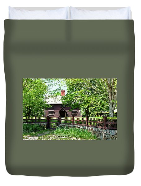 Duvet Cover featuring the photograph Matthew Whipple House by Wayne Marshall Chase
