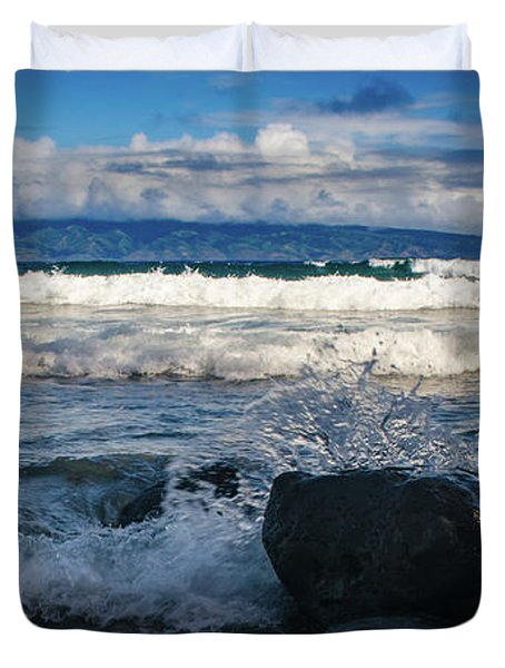 Maui Breakers Pano Duvet Cover