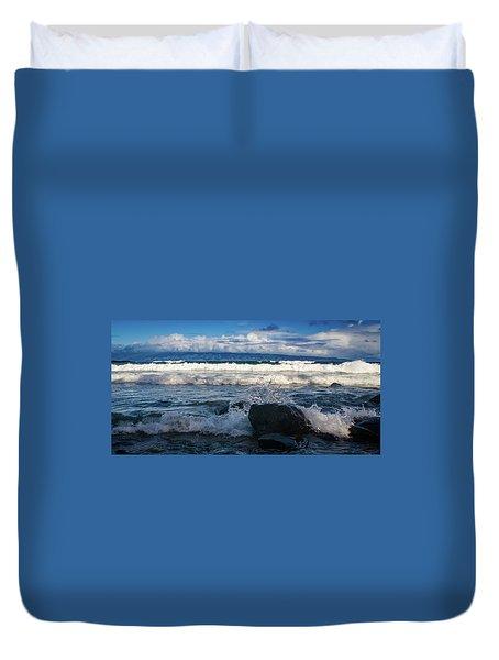 Maui Breakers Pano Duvet Cover