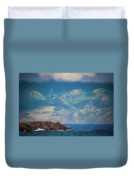 Maui Fisherman Duvet Cover