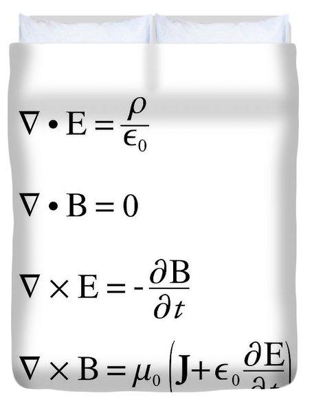 Maxwell's Equations Duvet Cover