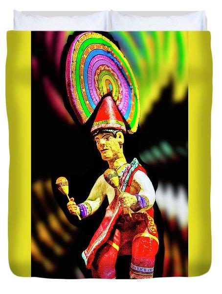 Mayan Dancer Duvet Cover