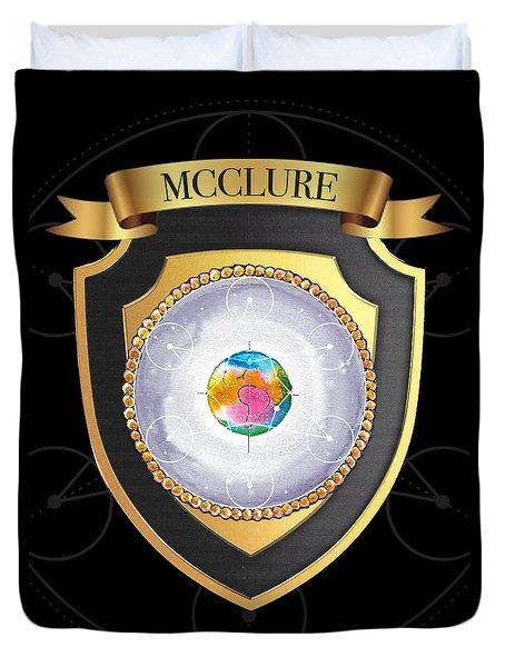 Mcclure Family Crest Duvet Cover