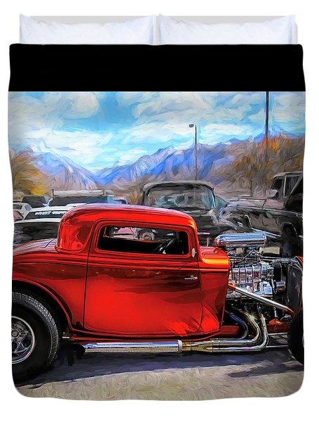 Mean Orange Hot Rod Duvet Cover