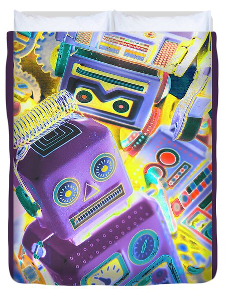 Mechanic Al Pop-art Duvet Cover