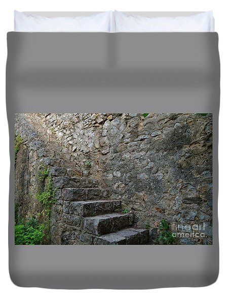 Medieval Wall Staircase Duvet Cover