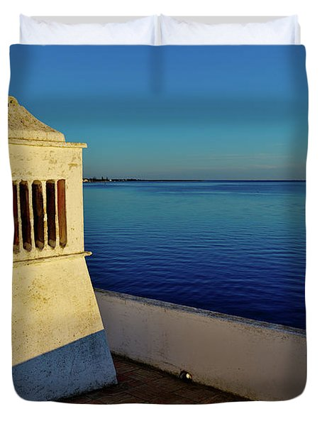 Mediterranean Chimney II. Portugal Duvet Cover