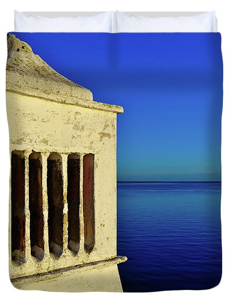 Mediterranean Chimney In Algarve Duvet Cover