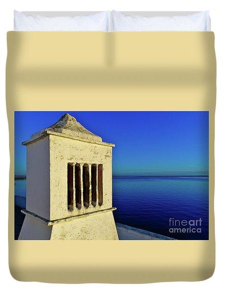 Mediterranean Chimney In Algarve Duvet Cover
