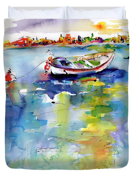 Mediterranean Impressions Boat Duvet Cover