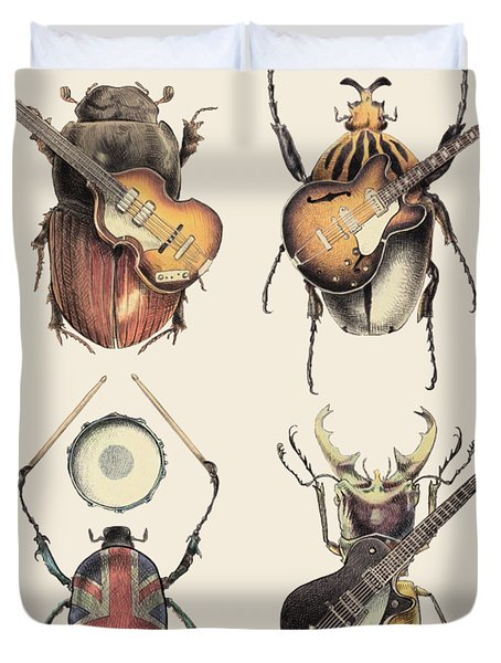 Meet The Beetles Duvet Cover