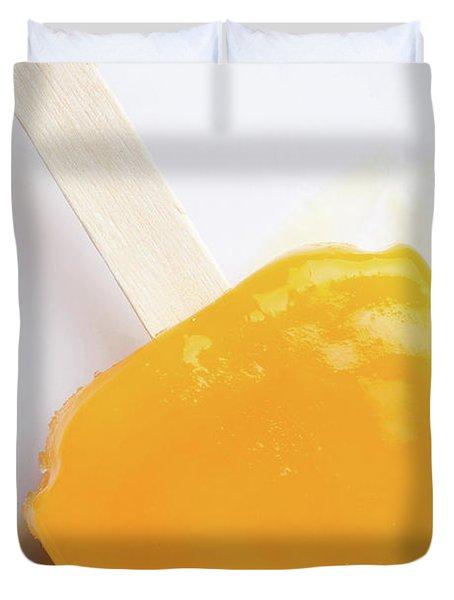 Melting Mango Ice Pop Duvet Cover