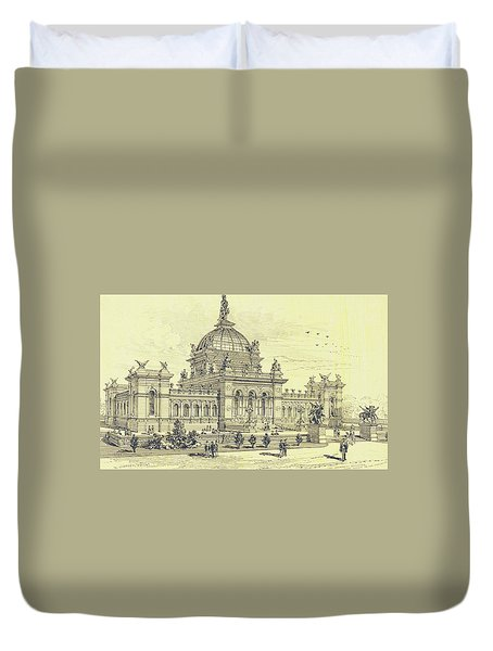 Memorial Hall, Centennial Duvet Cover