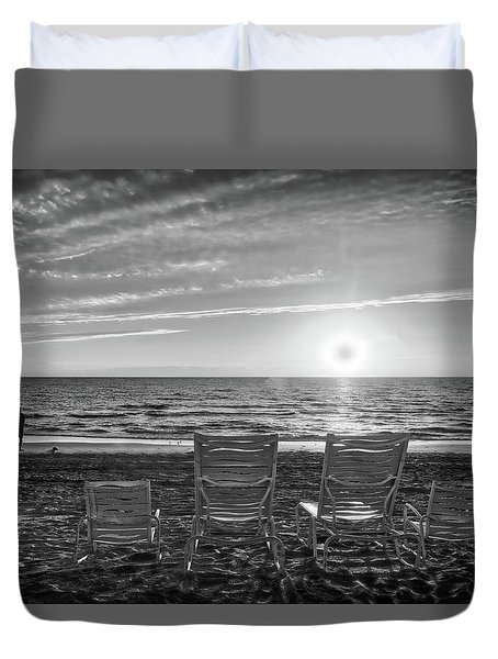 Duvet Cover featuring the photograph Memories In Black And White by Lynn Bauer