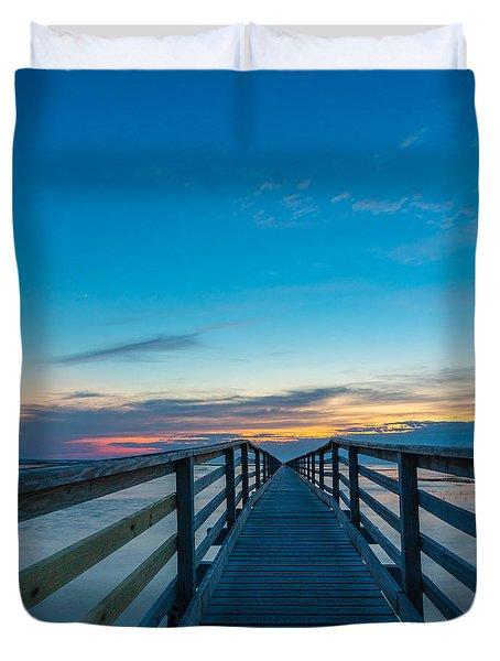 Memories On The Boardwalk Duvet Cover
