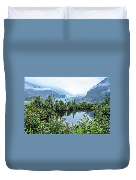 Duvet Cover featuring the photograph Mendenhall Glacier 1 by Dawn Richards