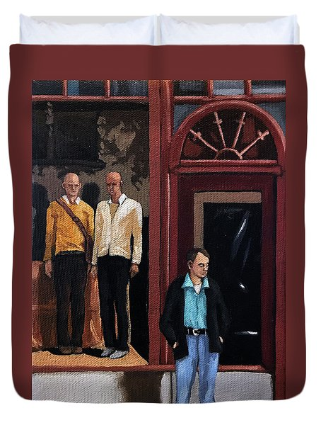 Men's Fashion Oil Painting Duvet Cover