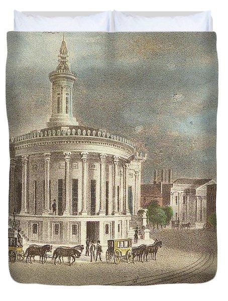 Merchants Exchange, 1838 Duvet Cover