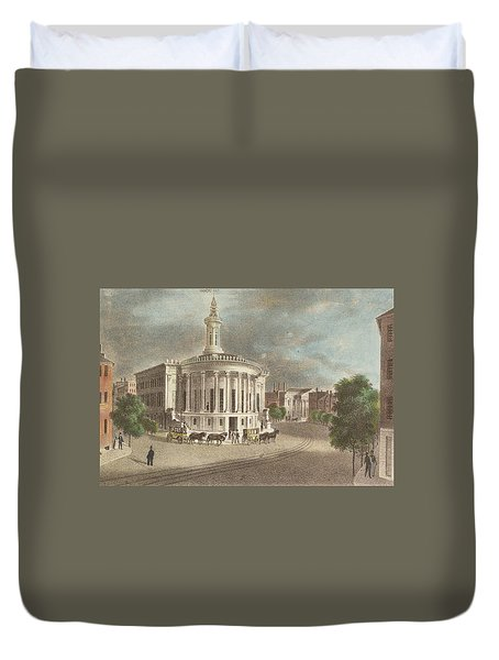 Merchants Exchange, 1838 Duvet Cover