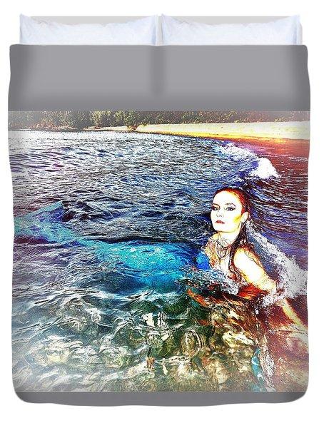 Mermaid Shores Duvet Cover