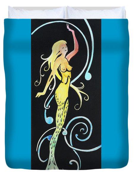 Mermaid Swirls Duvet Cover