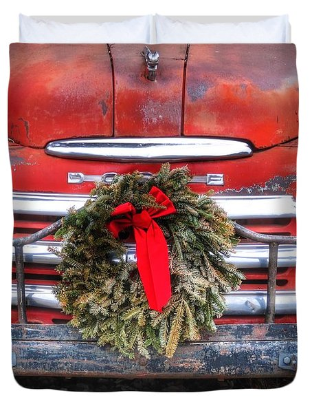 Merry Christmas Texas Duvet Cover