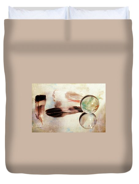 Duvet Cover featuring the photograph Messages From Above by Randi Grace Nilsberg