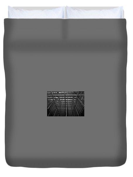 Metal Lines Duvet Cover