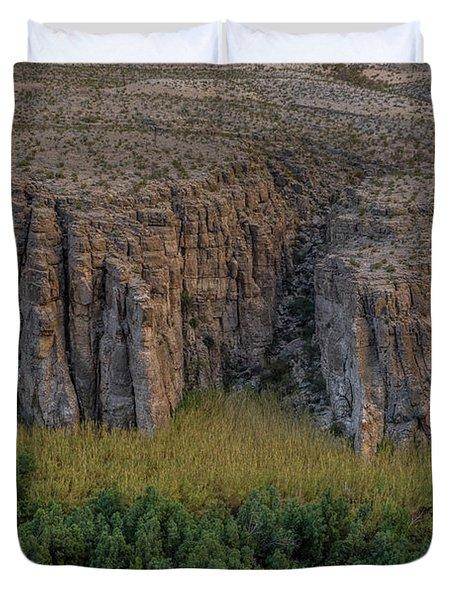 Mexican Box Canyon Duvet Cover