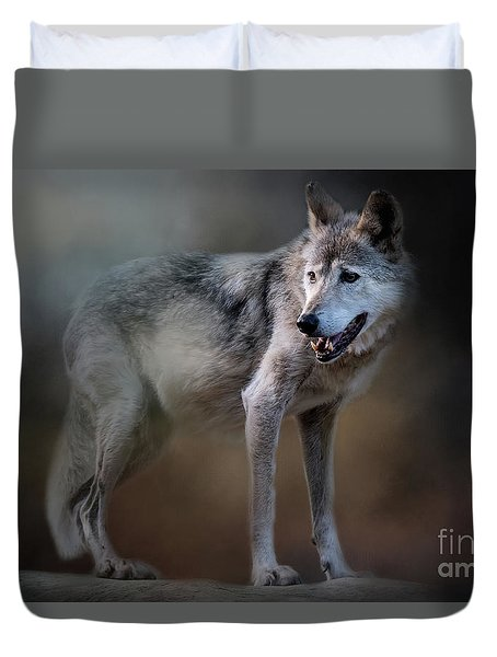 Mexican Wolf Duvet Cover