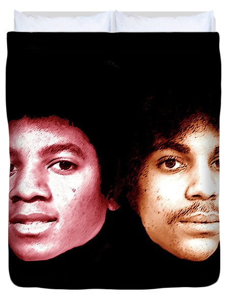 Michael And Prince Just Before They Blew Up Duvet Cover