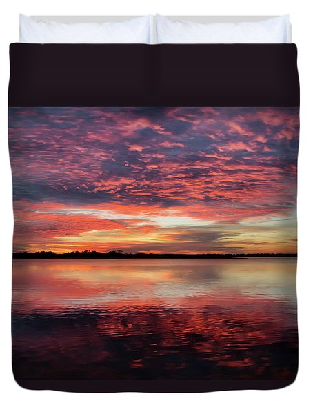 Mid October Sunset Duvet Cover